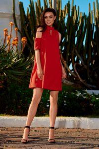 Dámské šaty L245 červená