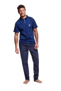 Pánské pyžamo 37297 tmavě modrá