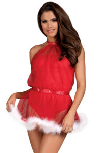 Sexy kostým Santastic červená
