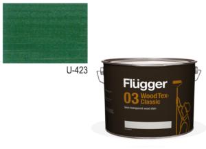 Flügger Wood Tex – Classic 03 Semi-transparent (dříve 96 Classic) – lazurovací lak- 10L -odstín U-423 Zeleň