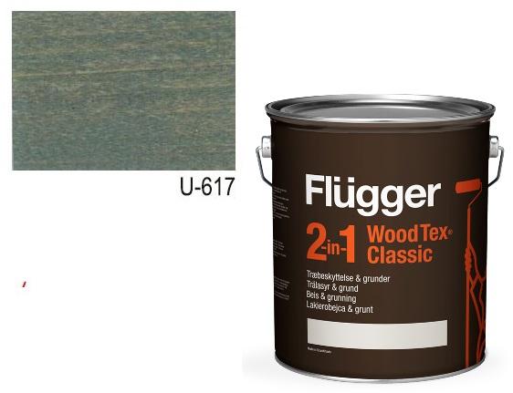Flügger Wood Tex Classic 2v1 (dříve Flügger 2v1 Classic) – lazurovací lak- 0,75L -odstín U-617