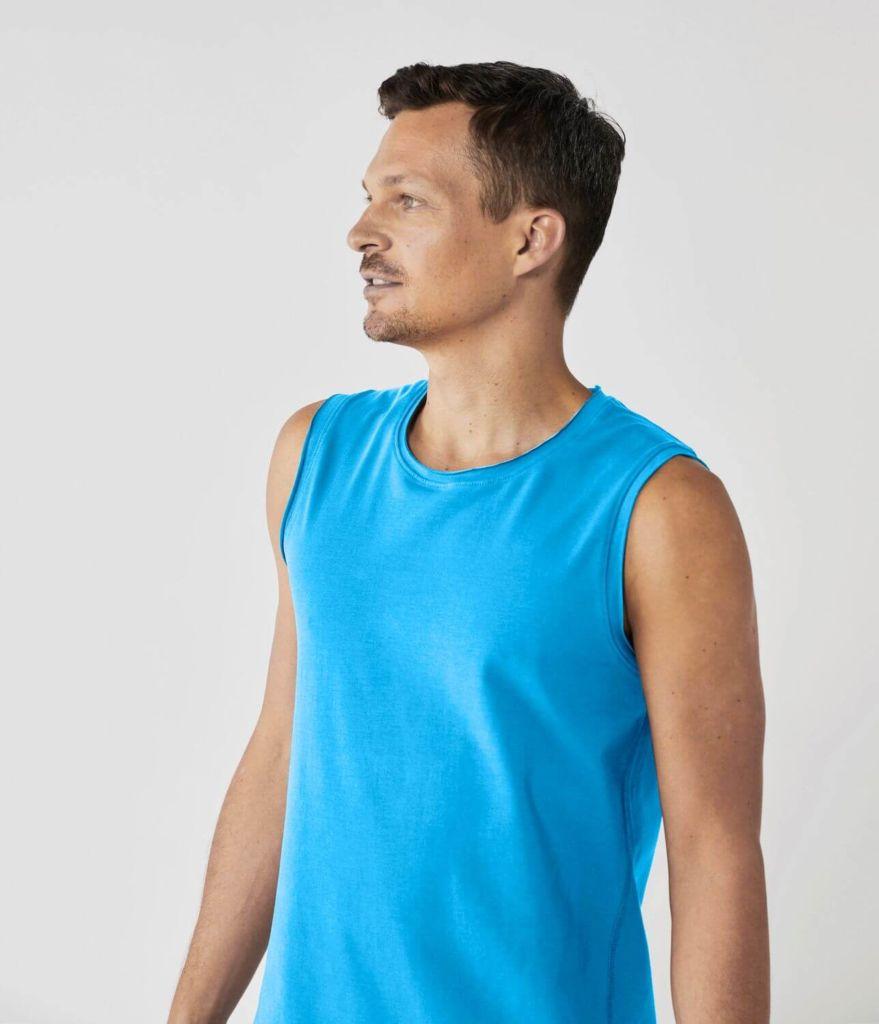 Lotuscrafts Yoga Tank Top pánske tričko (modrá)