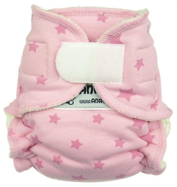 Novorozenecká kalhotková plena na suchý zip Hvězdičky (růžová)