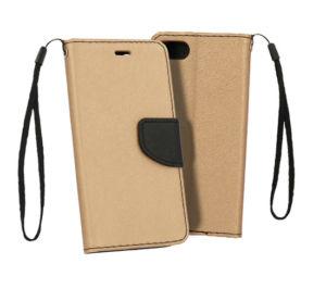 Flipové pouzdro Fancy Book pro Sony Xperia 10 – zlato/černé