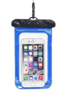 Voděodolné pouzdro na telefon nebo doklady – modré