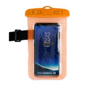 Voděodolné pouzdro na telefon nebo doklady – oranžové