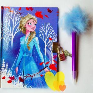 Diář FROZEN Elsa se zámkem a perem