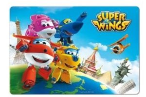 Jídelní podložka 3D SUPER WINGS svět 42×28,5