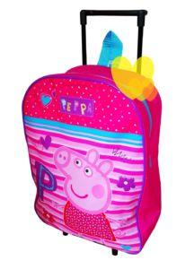 Kufr PEPPA PIG na kolečkách 1kapsa cestovní růžový 39cm
