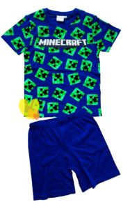 Pyžamo MINECRAFT modré krátké