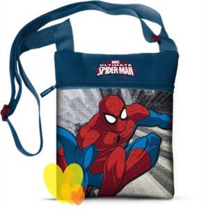 Taška SPIDERMAN přes rameno modrá 16,5×21