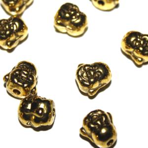 Buddha – zlatý – 10 x 10 x 9 mm
