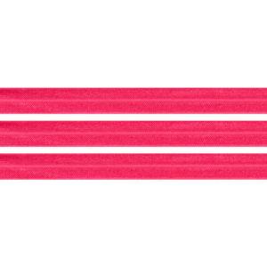 Elastická stuha – neonově růžová – 1,5 cm – 30 cm – 1 ks