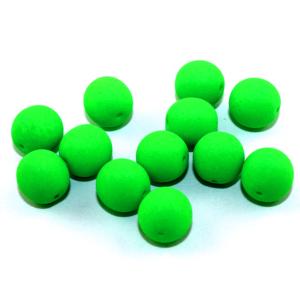 Korálky Estrela NEON – elektricky zelené – ∅ 10 mm – 10 ks