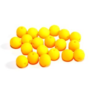 Korálky Estrela NEON – fluorescenčně oranžové – ∅ 6 mm – 10 ks
