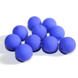 Korálky Estrela NEON – královsky modré – ∅ 10 mm – 10 ks