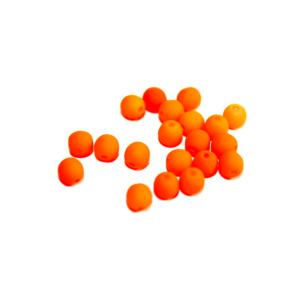 Korálky Estrela NEON – oranžové – ∅ 4 mm – 10 ks