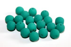 Korálky Estrela NEON – smaragdové – ∅ 6 mm – 10 ks