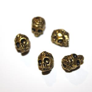Lebka – zlatá – 9 x 7 x 8 mm – 1 ks