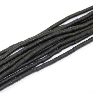 Lentilky z polymeru – černé – ∅ 5 mm – 10 ks
