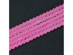 Matné korálky – světle růžové – ∅ 6 mm – 10 ks