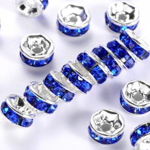 Mosazná rondelka – stříbrná – třída A  – ∅ 8 x 3,8 mm – 1 ks