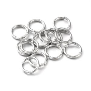Mosazný spojovací kroužek – platinový – Ø 5 mm – 1 ks