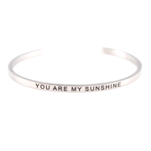 Náramek z chirurgické oceli – YOU ARE MY SUNSHINE – 1 ks