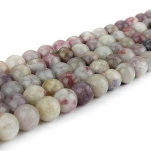 Přírodní fialový turmalín – ∅ 8 mm – 1 ks