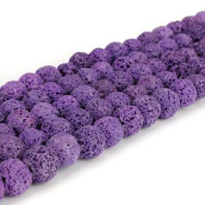 Přírodní láva – fialová – ∅ 8 mm – 1 ks