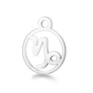 Přívěsek z chirurgické oceli – znamení zvěrokruhu – kozoroh – 13,4 x 10,8 x 1 mm – 1 ks