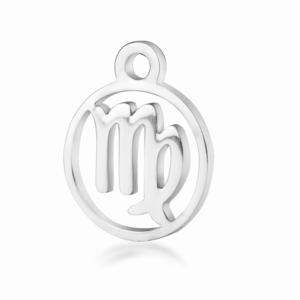 Přívěsek z chirurgické oceli – znamení zvěrokruhu – panna – 13,4 x 10,8 x 1 mm – 1 ks