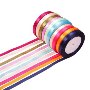 Saténová stuha – různá provedení – 10 mm – 1 m