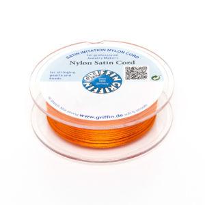 Saténová šňůra – oranžová – ∅ 1 mm – 25 m – 1 ks