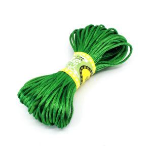 Saténová šňůra – zelená – Ø  2 mm – 20 m – 1 ks