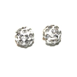Shamballa korálek – stříbrný – třída A – ∅ 8 mm – 1 ks