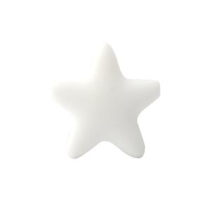 Silikonová hvězda – bílá – 37 x 37 x 10,5 mm – 1 ks