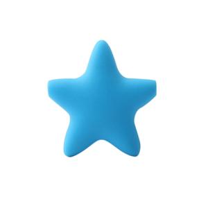 Silikonová hvězda – modrá – 37 x 37 x 10,5 mm – 1 ks