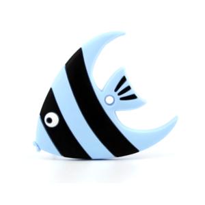 Silikonové kousátko – ryba – pomněnkové – 78 x 92 x 10 mm – 1 ks