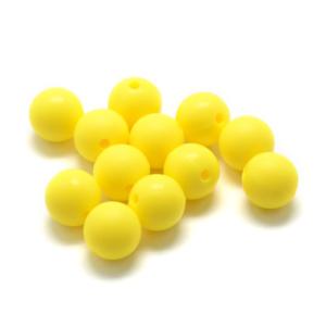 Silikonový korálek – žlutý – ∅ 9 mm – 1 ks