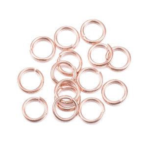 Spojovací kroužek z nerezové oceli – růžově zlatý – Ø 7 mm – 1 ks