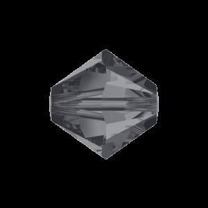 SWAROVSKI 5328 – XILION BEAD – Crystal Silver Night – ∅ 4 mm – 1 ks