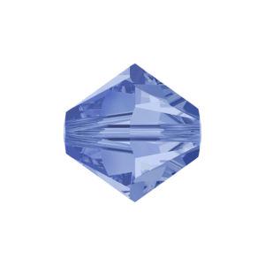 SWAROVSKI 5328 – XILION BEAD – Light Sapphire Shimmer – ∅ 6 mm – 1 ks