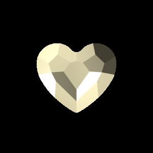 SWAROVSKI 5741 – LOVE BEAD – Crystal Metallic Light Gold 2x – 12 x 12 x 5,5 mm – 1 ks
