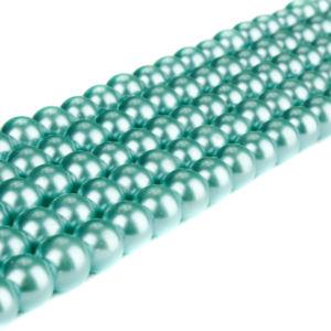 Voskované perly – mentolové – Ø 8 mm – 10 ks