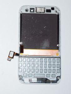 LCD Display + Dotyková Deska + Frame pro Blackberry Q5 White POUŽITÉ