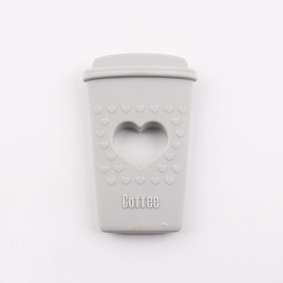 Kousátko silikonové COFFEE (1ks) – gray