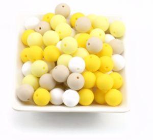 Silikonové korálky 9mm (10ks) – yellow mix
