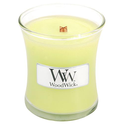 Svíčka oválná váza  WoodWick 85g – Citronová tráva a lilie