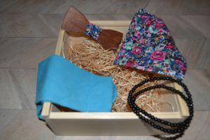 Dárkový dřevěný box s dřevěným motýlkem